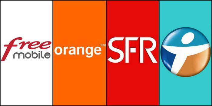 Free Mobile SFR Orange Bouygues