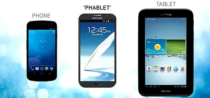 smartphone phablette tablette