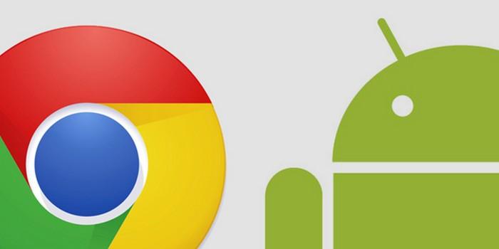 chrome android données