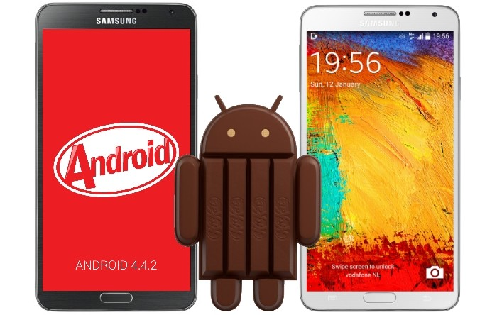 galaxy s4 galaxy note 3 kitkat
