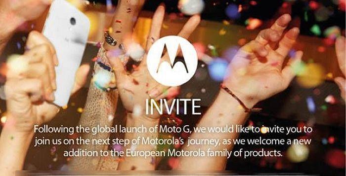 motorola 14 janvier invitation
