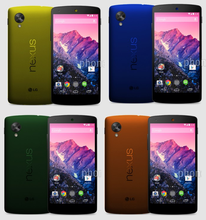 nexus 5 coloris