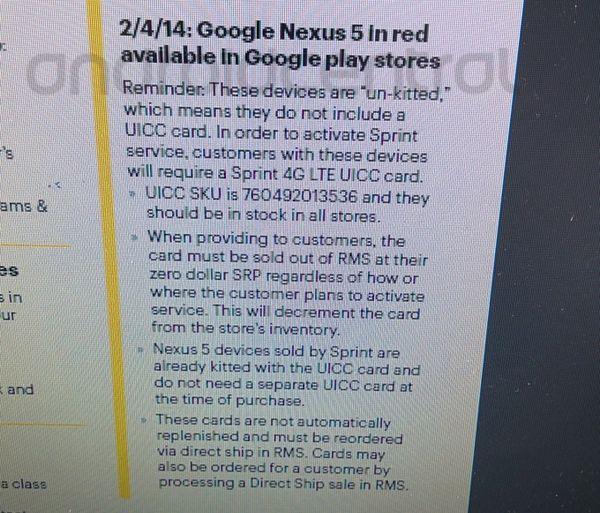 nexus 5 rouge vente