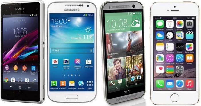 z1 compact vs galaxy s4 mini vs htc one mini vs iphone 5s