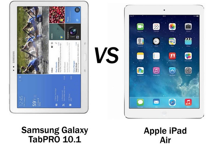 Galaxy TabPRO 10.1 vs iPad Air