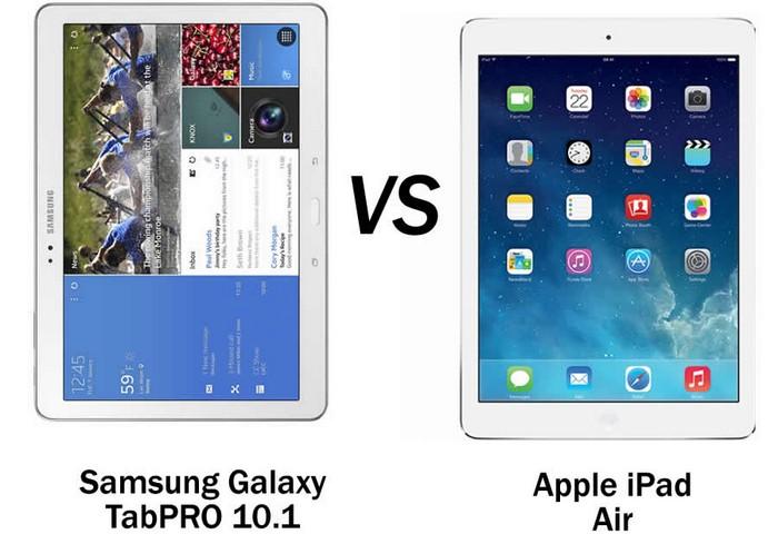 Galaxy Tab Pro 10 1 vs Apple iPad Air