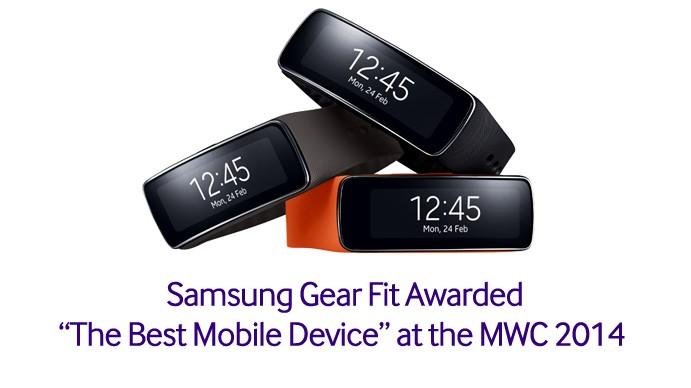 samsung gear fit élu meilleur appareil mobile de l'année