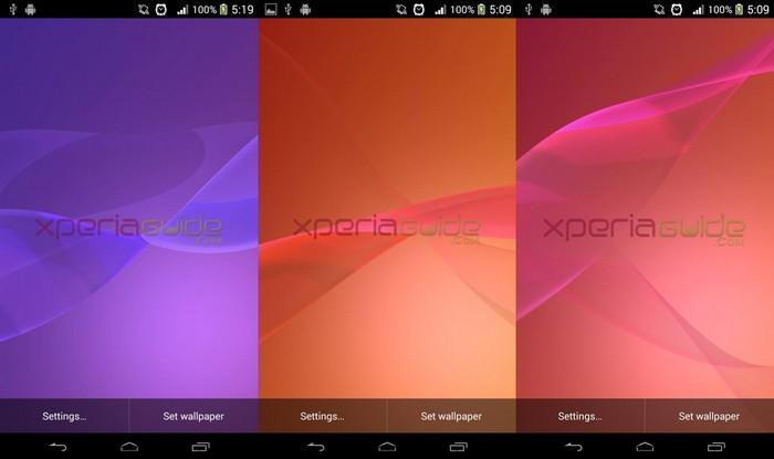 les fonds d'écran du xperia z2 sont téléchargables