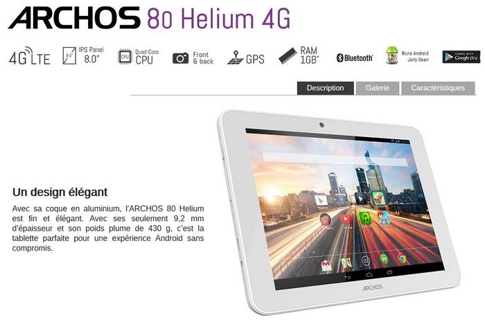 Archos 80 Helium 4G