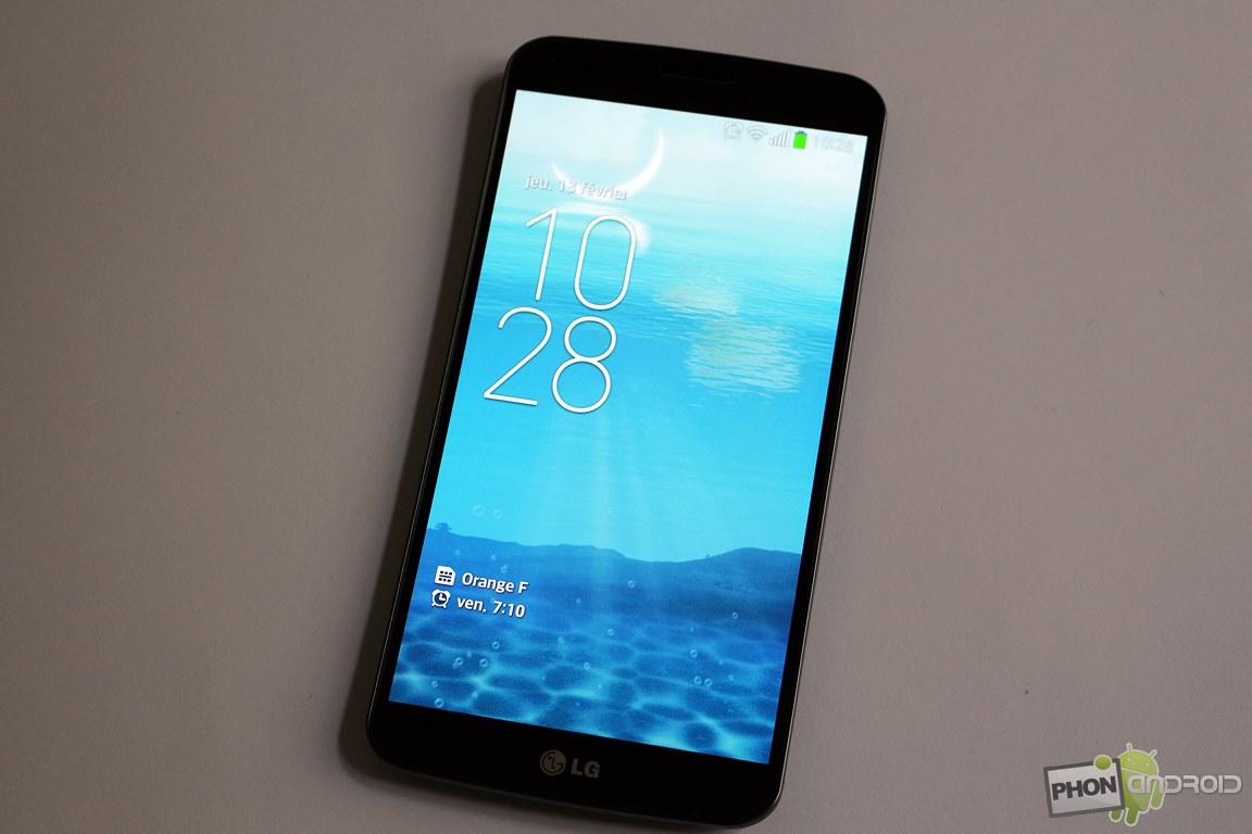 Test du lg g flex le smartphone incurv phonandroid for Test ecran 27