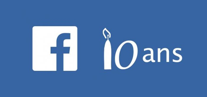 facebook 10 ans