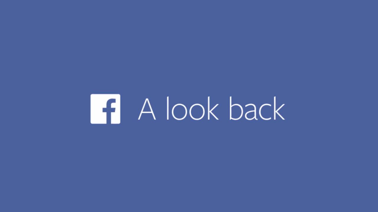 facebook look back
