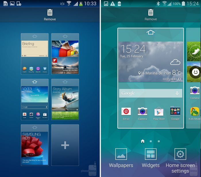 galaxy s4 vs galaxy s5 menu