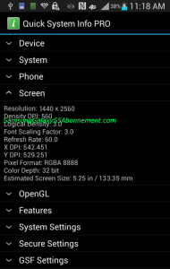screen resolution galaxy s5