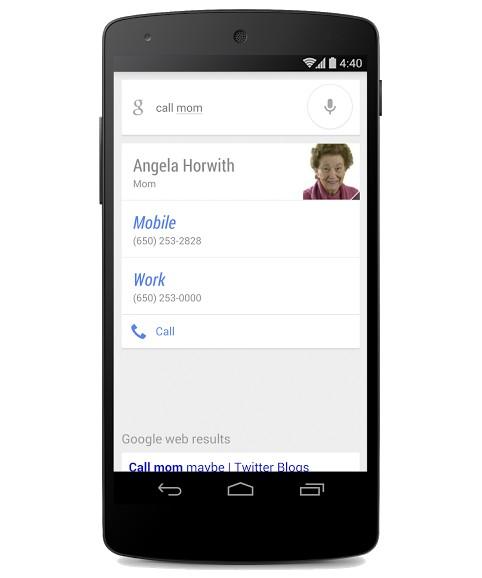 google now appel