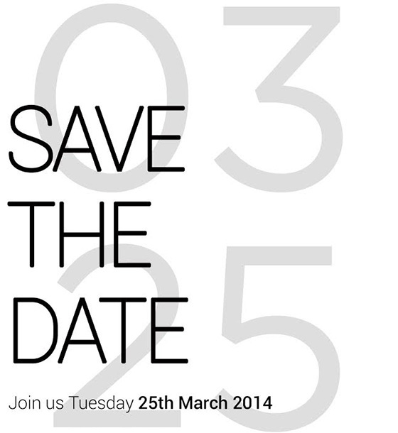 invitation HTC 25 mars