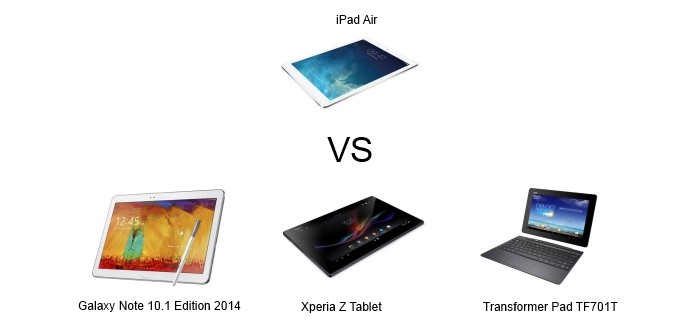 ipad vs tablettes android