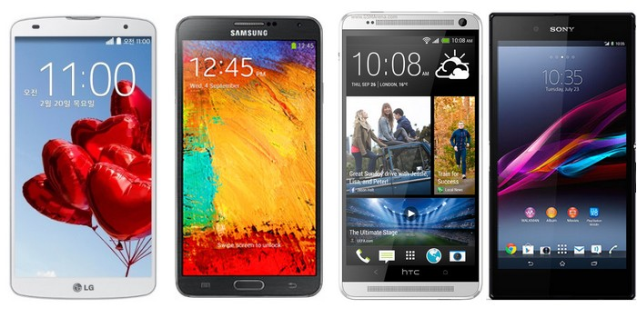 lg g pro 2 vs galaxy note 3 vs htc one max vs sony xperia z ultra