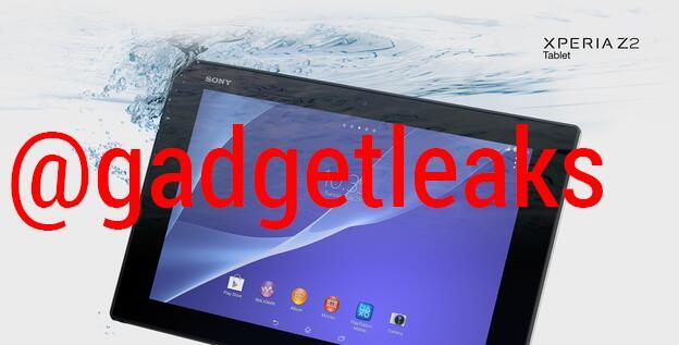 leak sony xperia z2 tablet