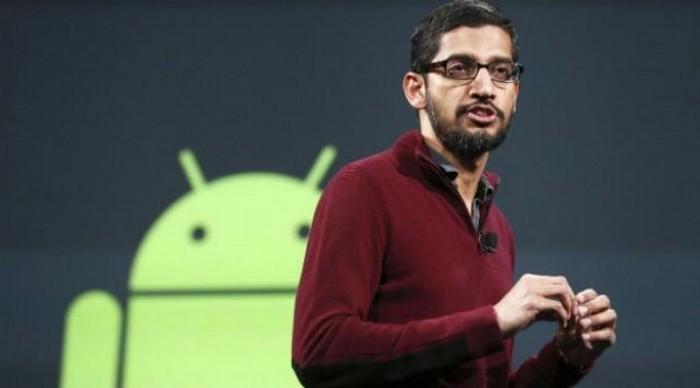 sundar pichai android plus sur
