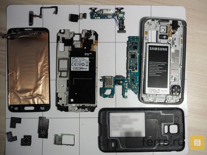 Le Galaxy S5 est très difficile à réparer
