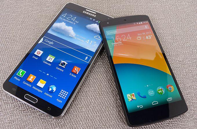 Nexus 5 Galaxy Note 3 autonomie
