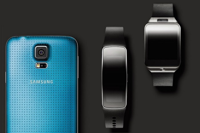 galaxy s5, gear 2 et gear fit en démo !