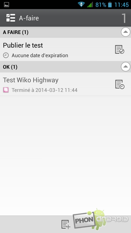 notes wiko highway