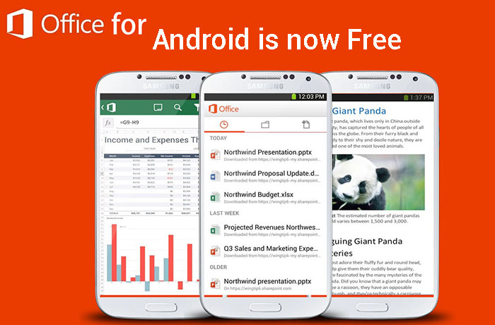 Microsoft office mobile pour android est gratuit dans le play store - Office tablette android gratuit ...