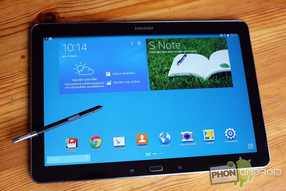 test de la samsung galaxy notepro 12 2 la tablette g ante