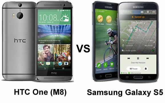 HTC_ONE_M8_versus_Samsung_Galaxy_s5