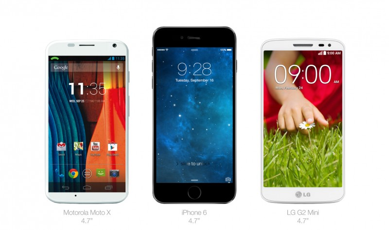 iphone6-vs-motoX-vs-G2mini