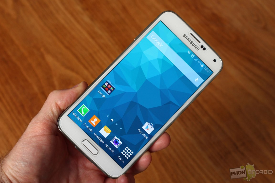 Galaxy s5 test de l 39 cran et benchmark phonandroid for Samsung photo ecran