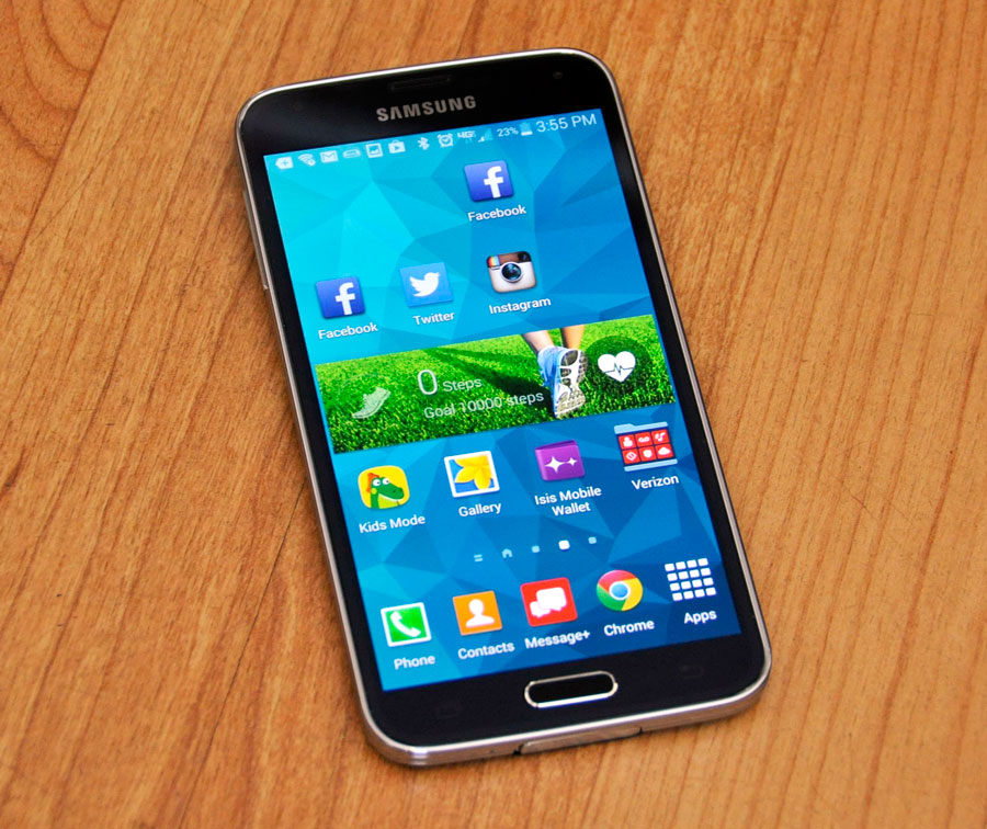 Galaxy S5 avec des applis ouvertes