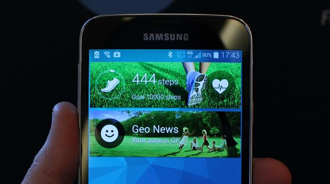 Galaxy S5, les widgets