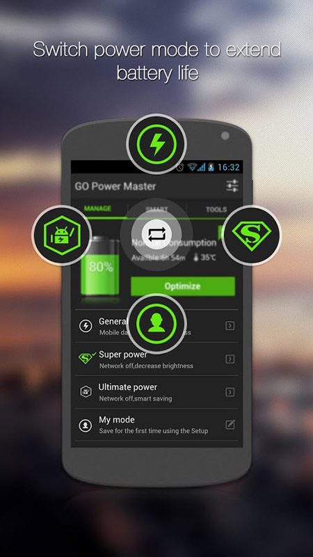 go battery saver power widget