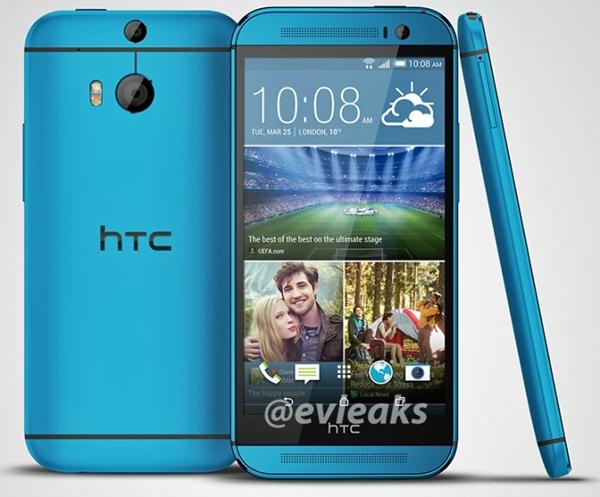 HTC One M8 Bleu