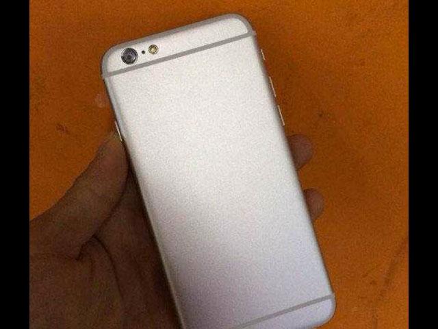 iPhone 6 en maquette, le dos