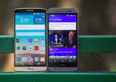 lg g3 vs htc one m8 comparatif dimensions en photo