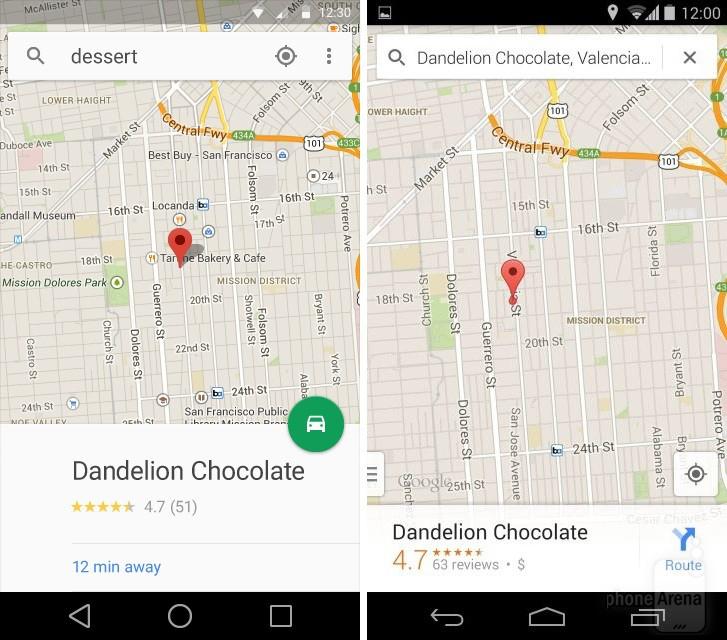 Android L vs KitKat