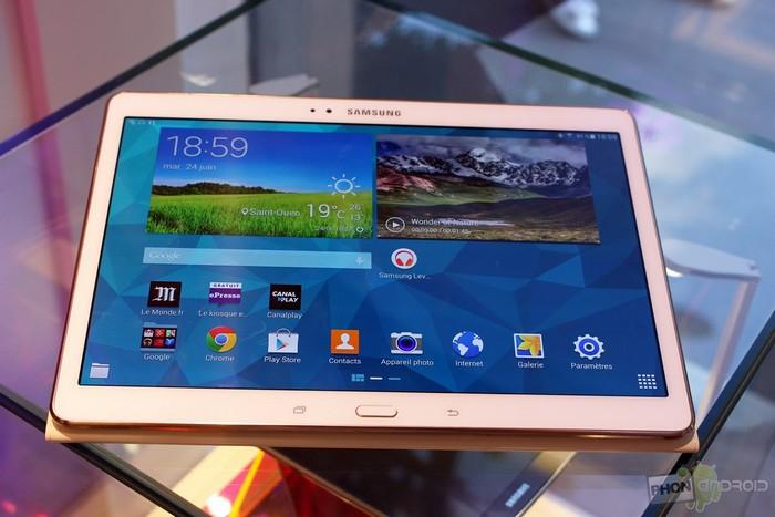écran des Galaxy Tab S