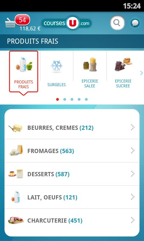 CoursesU sur Android : Screenshots 2