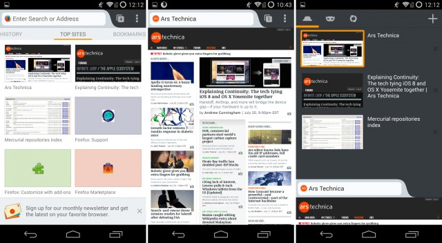 Mozilla : Application Open Source pour Android