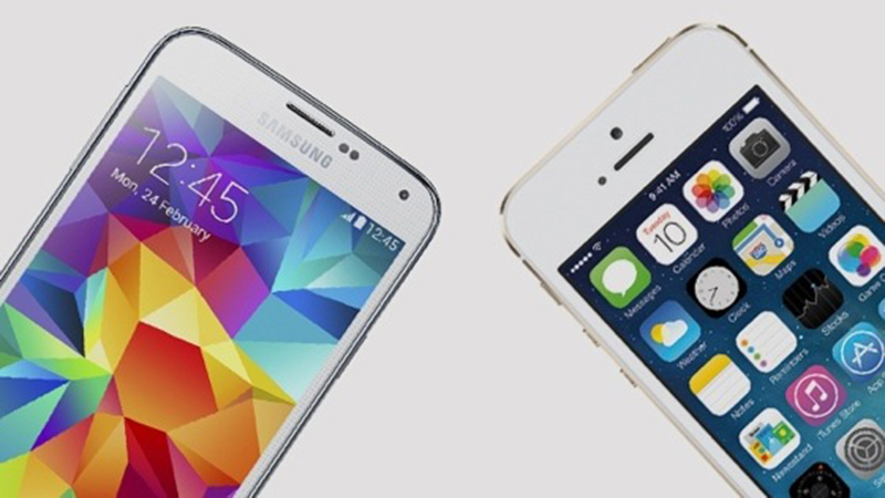 Galaxy S5 iPhone 5s attendre