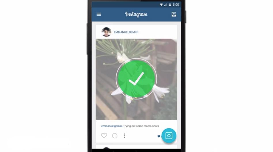 Concept d'Instagram sous Material Design