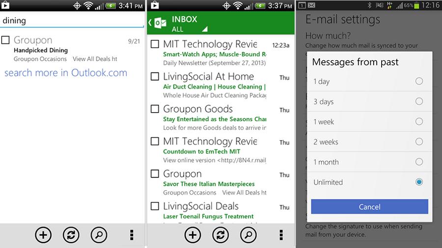 Mise à Jour Outlook Android : nouveaux coloris