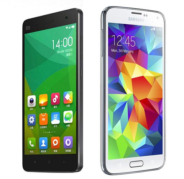 Xiaomi Mi4 Galaxy S5