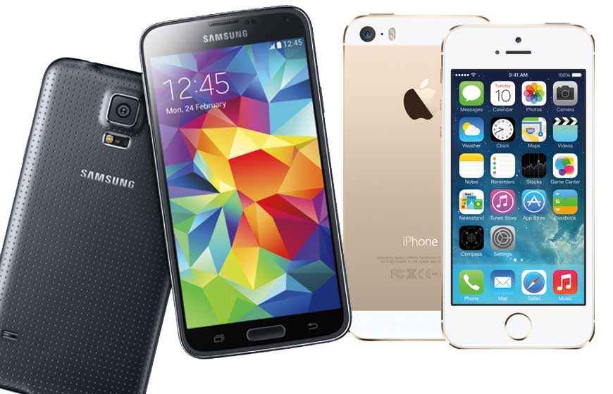 iPhone 5S Galaxy S5