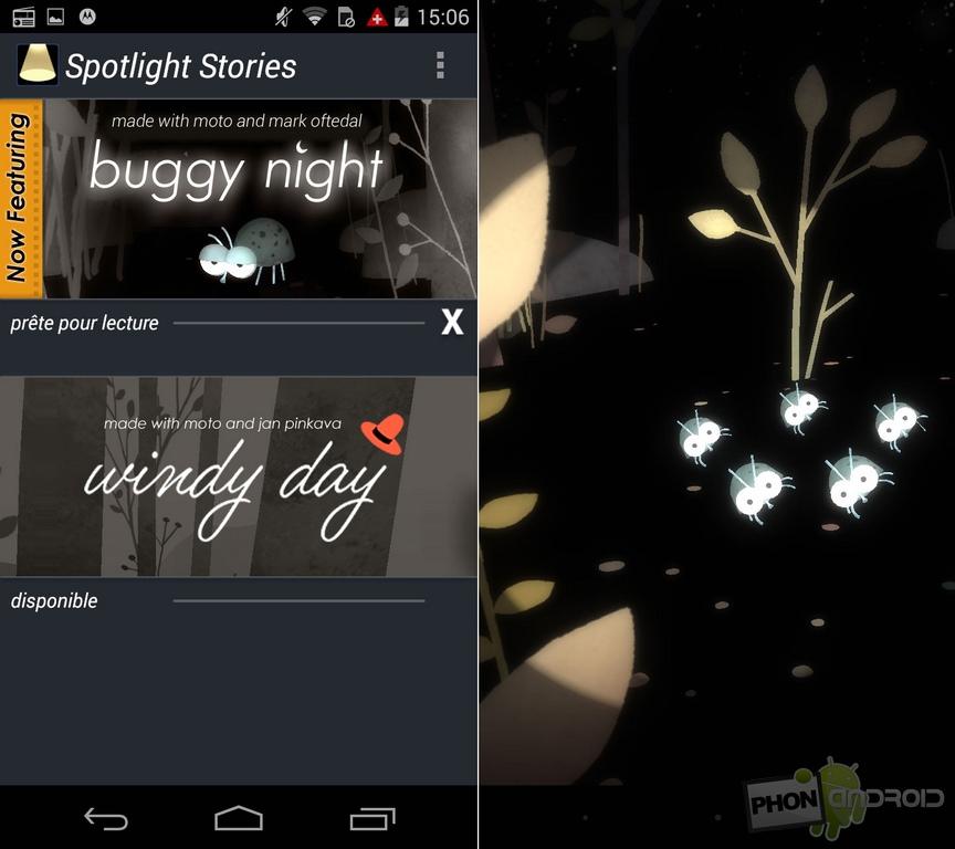 spotlight stories moto g 4g