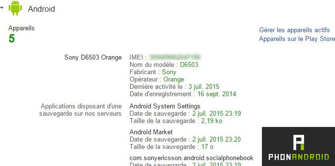 numero IMEI Android